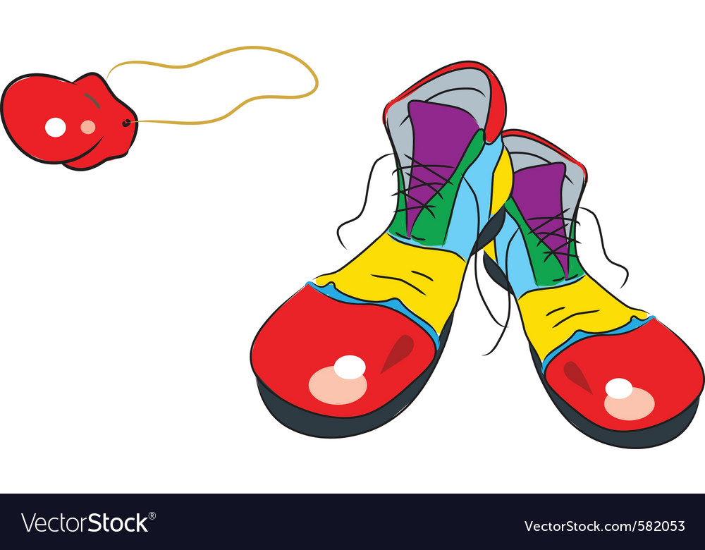 Clown shoes vector   Price: 1 Credit (USD $1)