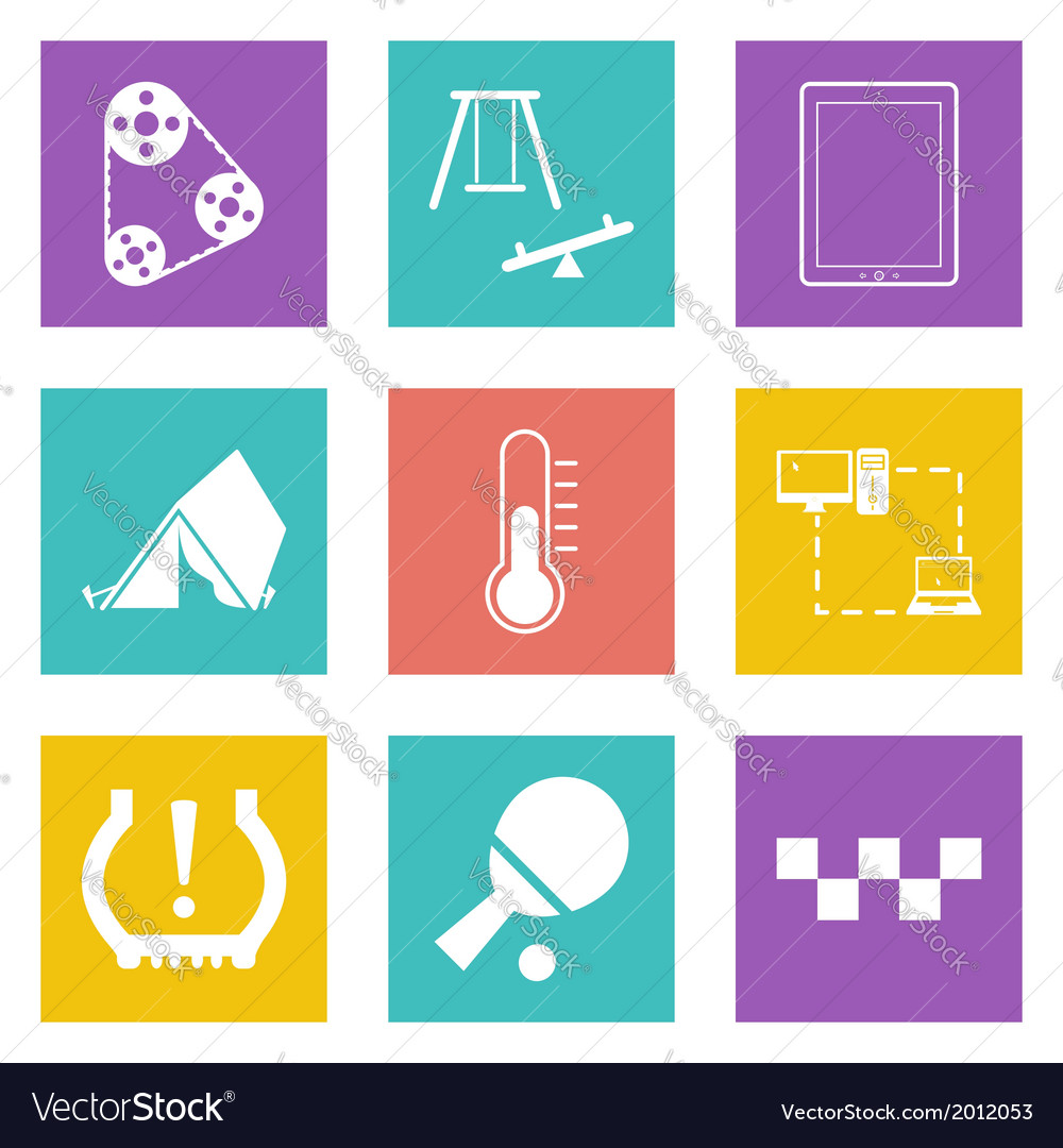 Color icons for web design set 30 vector | Price: 1 Credit (USD $1)