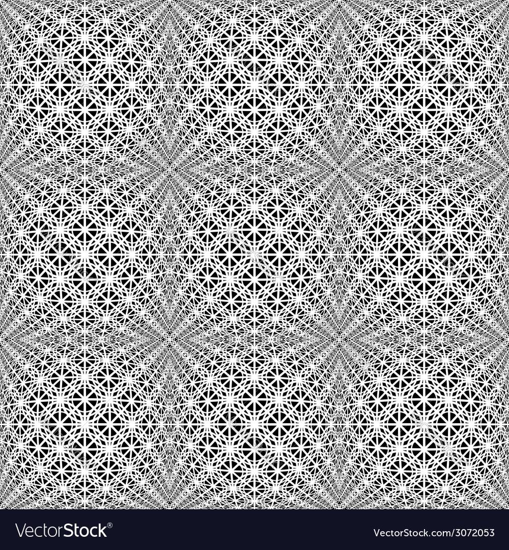 Design seamless monochrome warped grid pattern vector | Price: 1 Credit (USD $1)