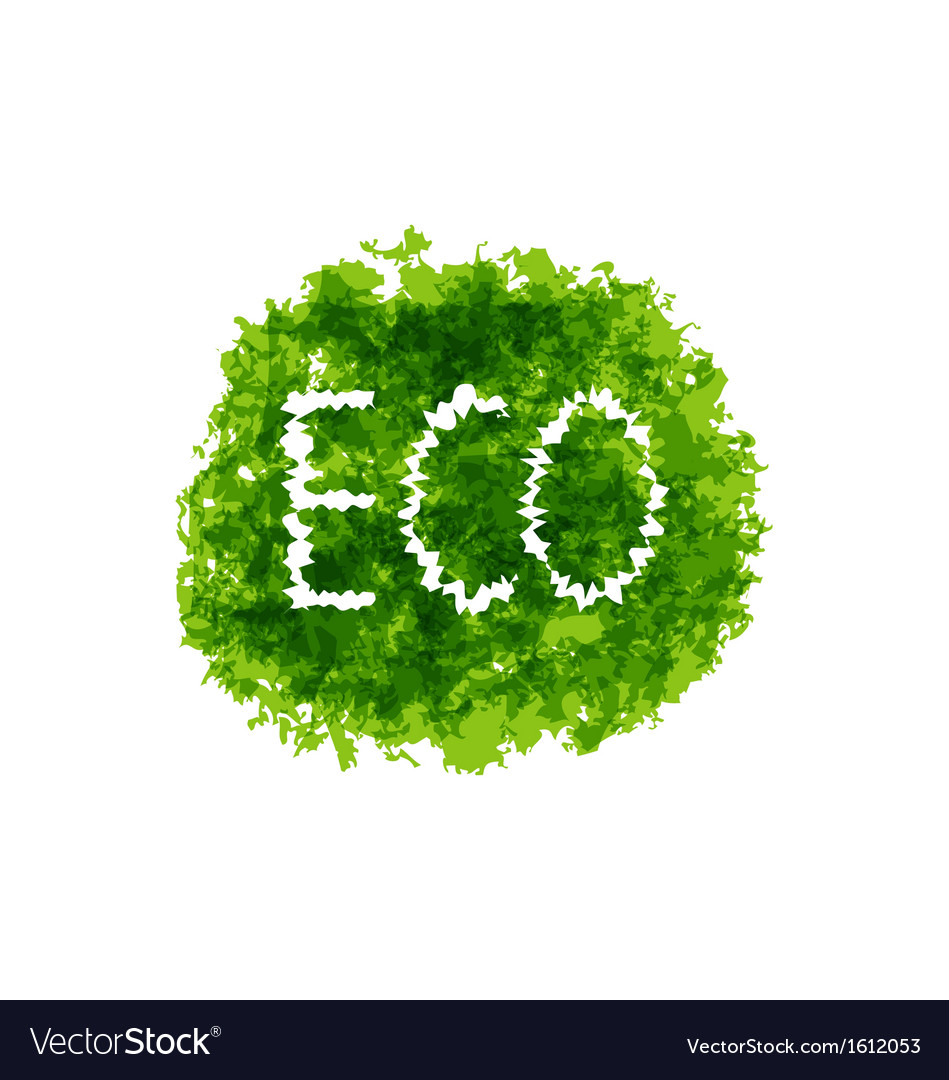 Eco friendly words on green bush vector | Price: 1 Credit (USD $1)