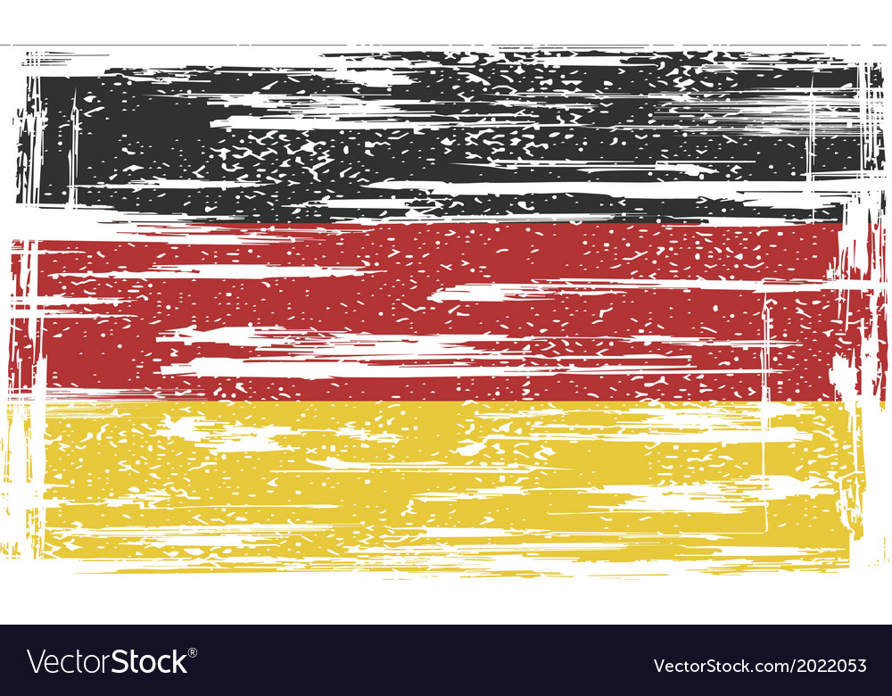 Germany grunge flag vector | Price: 1 Credit (USD $1)
