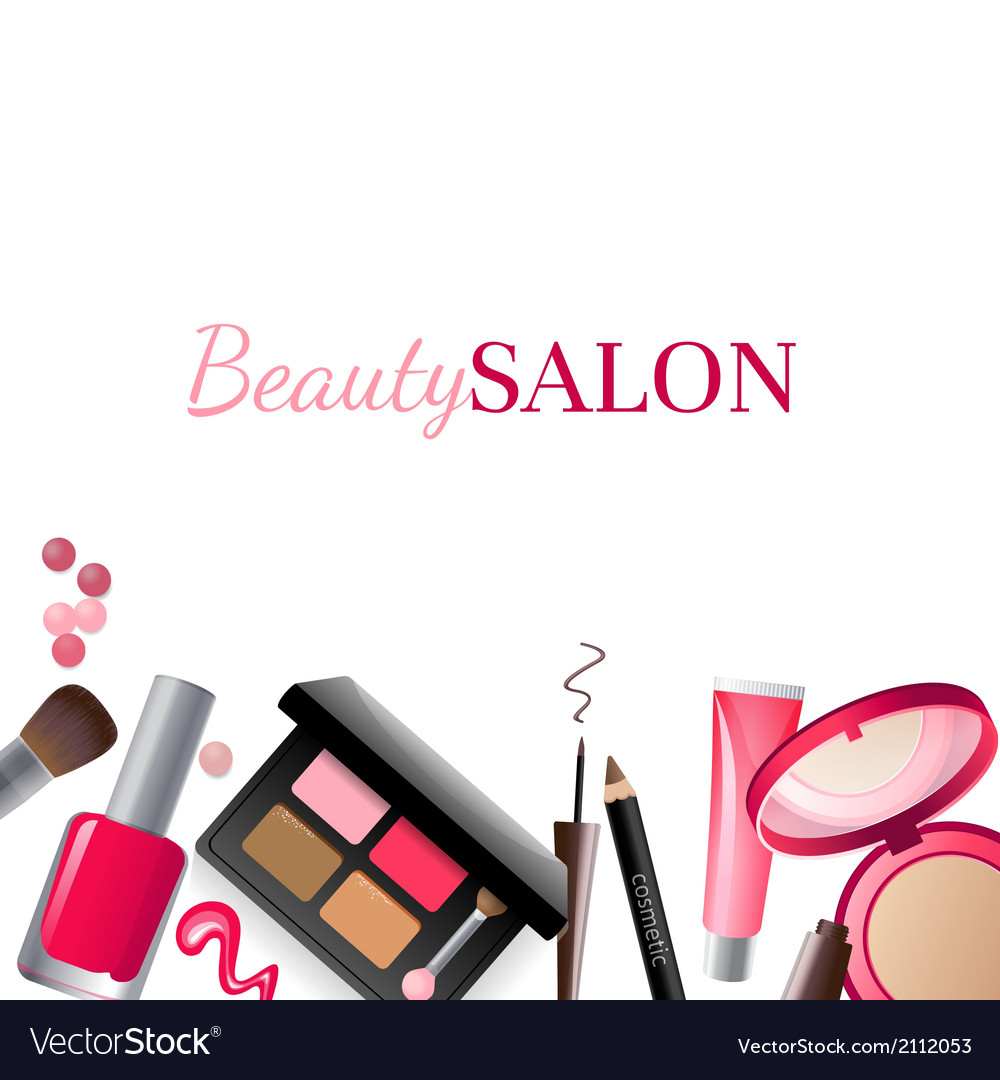 Glamorous make-up background vector | Price: 1 Credit (USD $1)