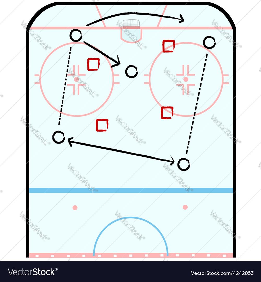 Hockey tactics vector | Price: 1 Credit (USD $1)