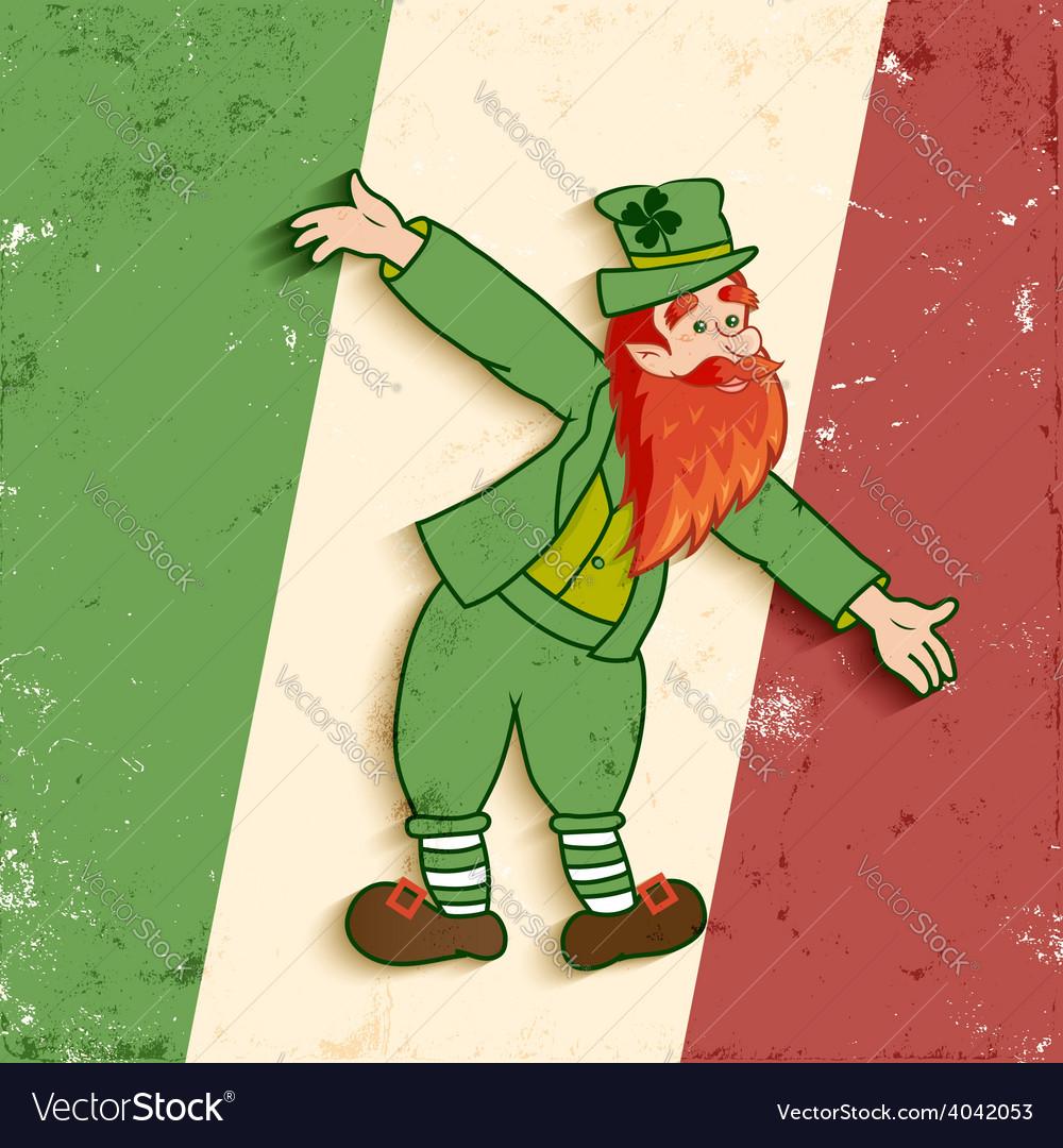 Leprechaun flag vector | Price: 1 Credit (USD $1)