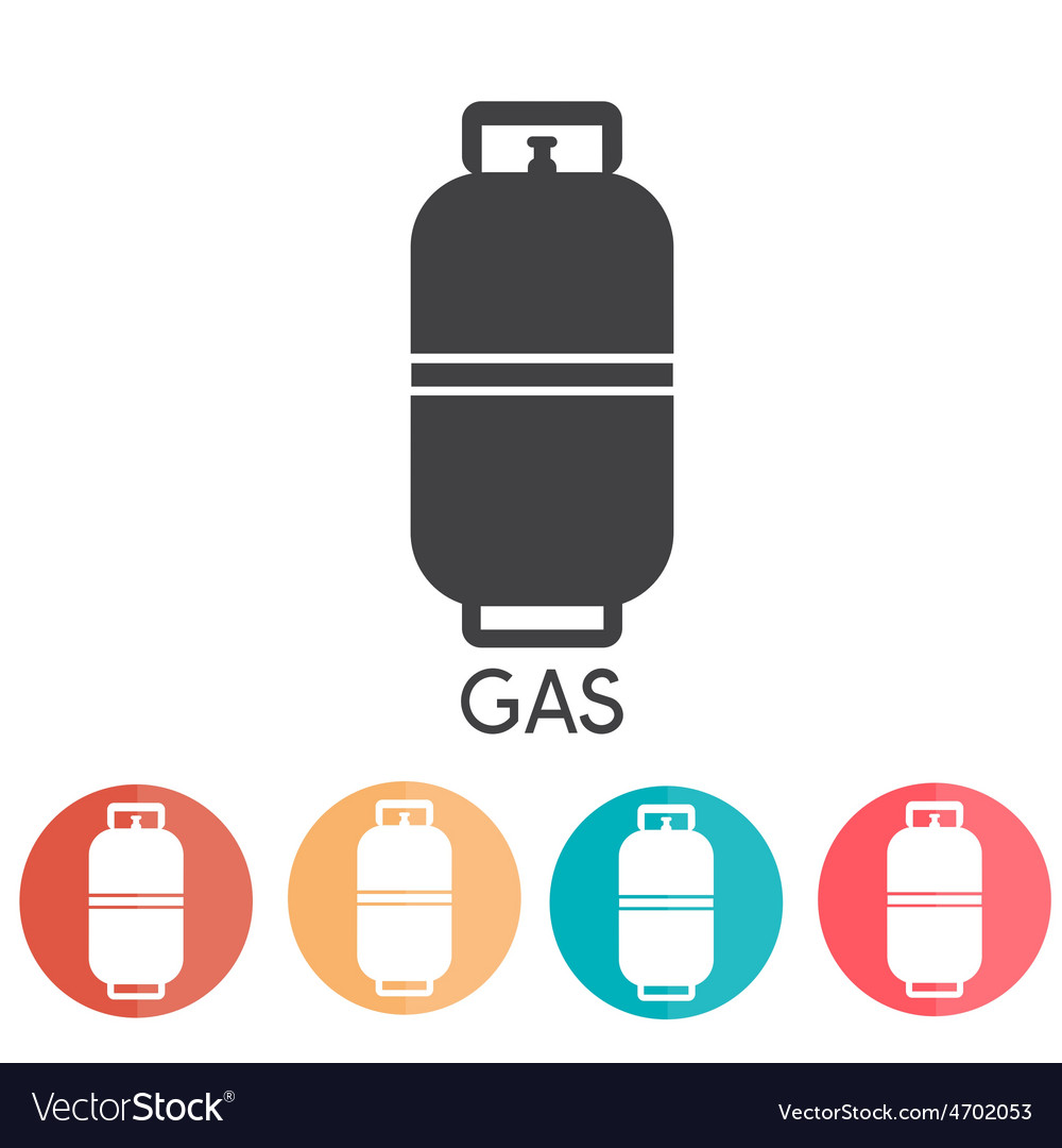 Liquid propane gas abd web icons vector | Price: 1 Credit (USD $1)