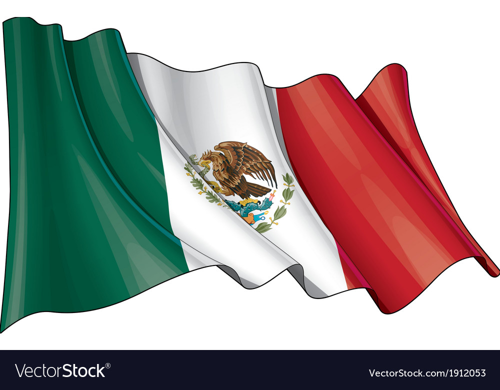 Mexico flag grunge vector | Price: 1 Credit (USD $1)