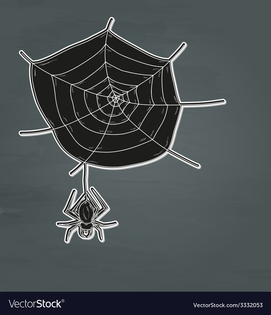 Spider web and spider vector | Price: 1 Credit (USD $1)