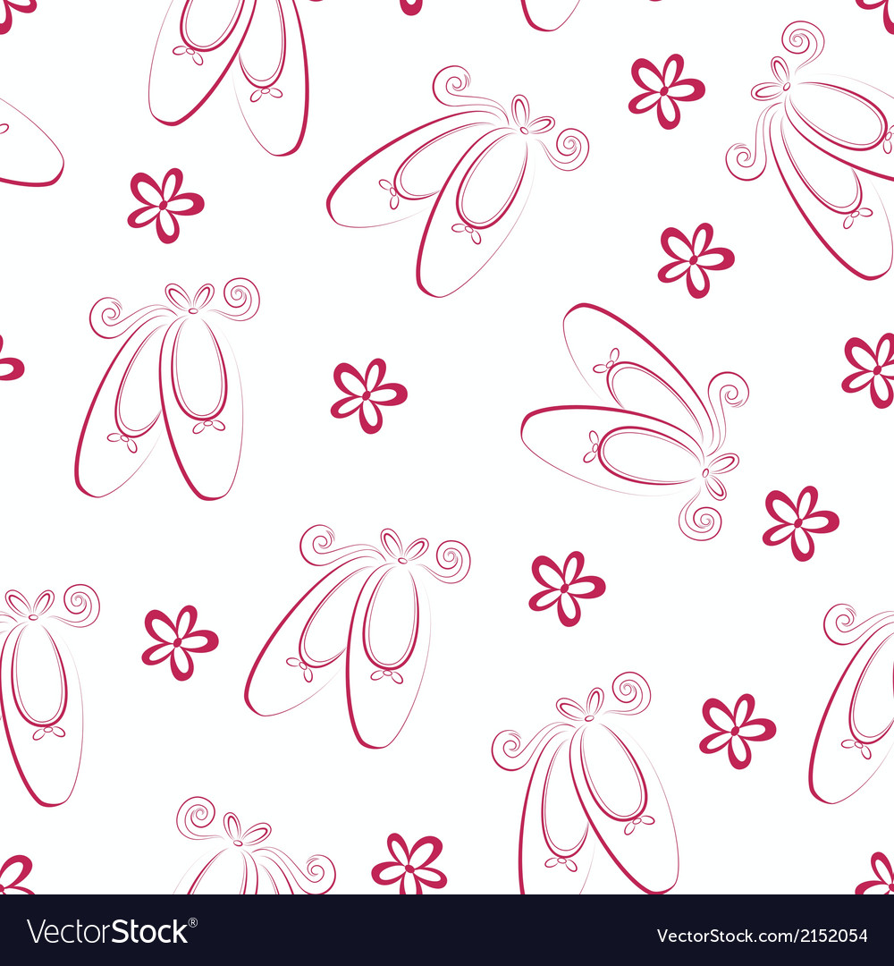 Ballet shoes pattern vector | Price: 1 Credit (USD $1)