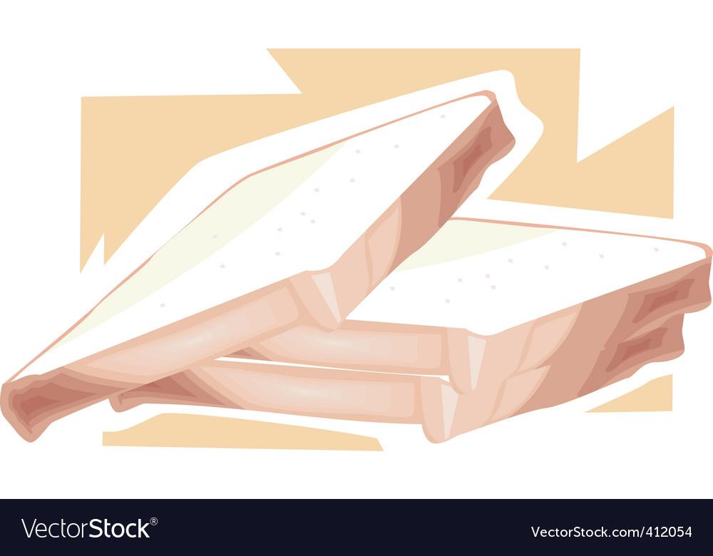 Bread slices vector | Price: 1 Credit (USD $1)