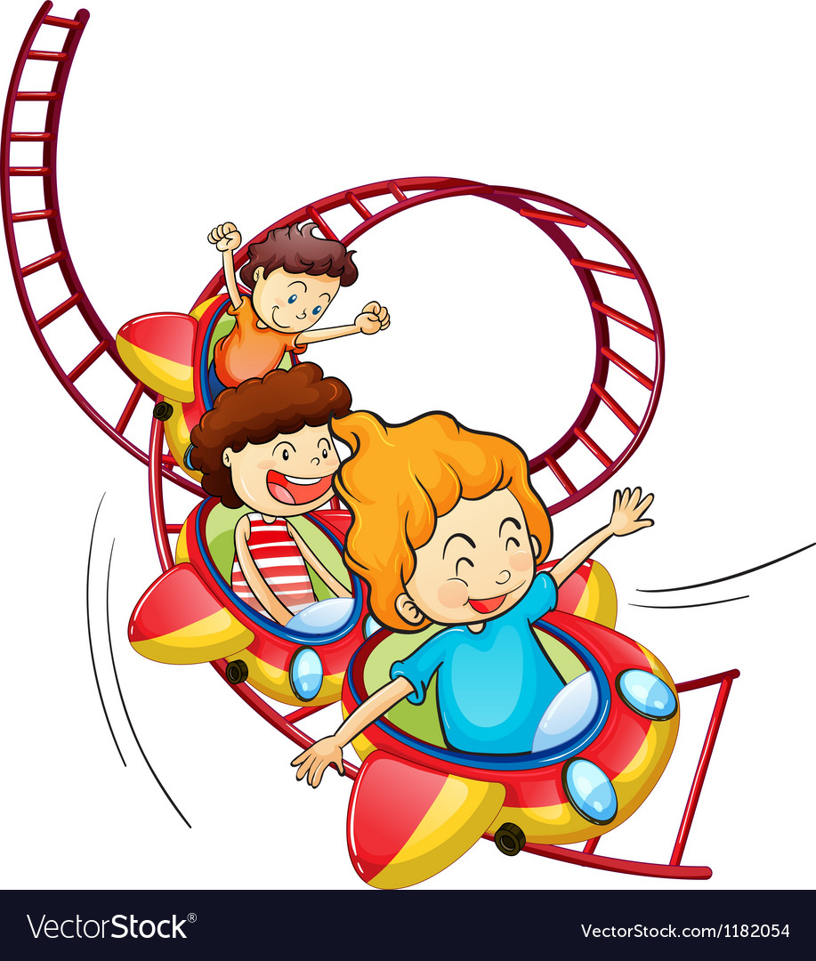 Cartoon roller coaster vector | Price: 1 Credit (USD $1)
