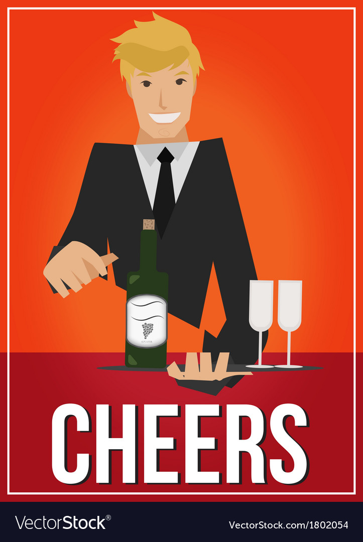 Cheers vector | Price: 1 Credit (USD $1)