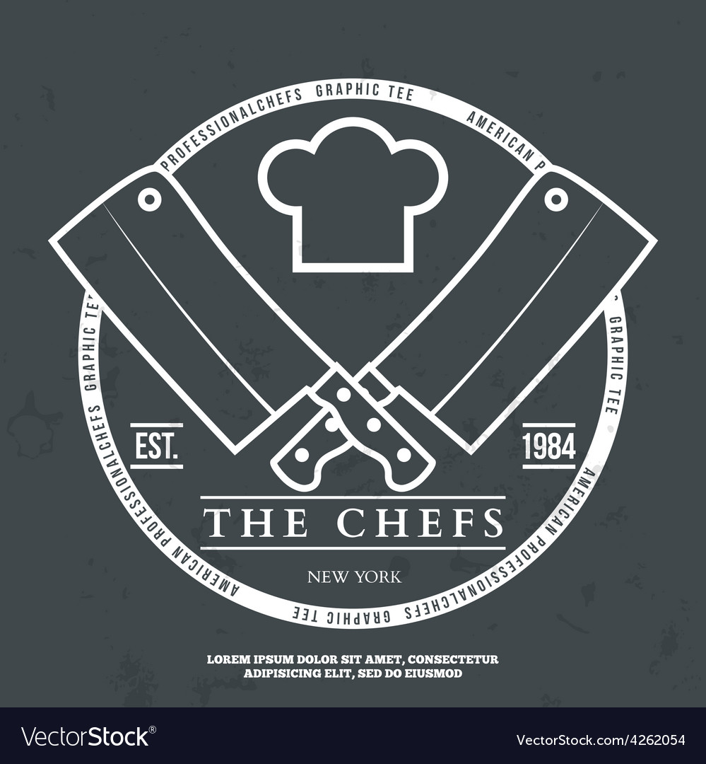 Chefs vintage t-shirt graphics print vector | Price: 1 Credit (USD $1)