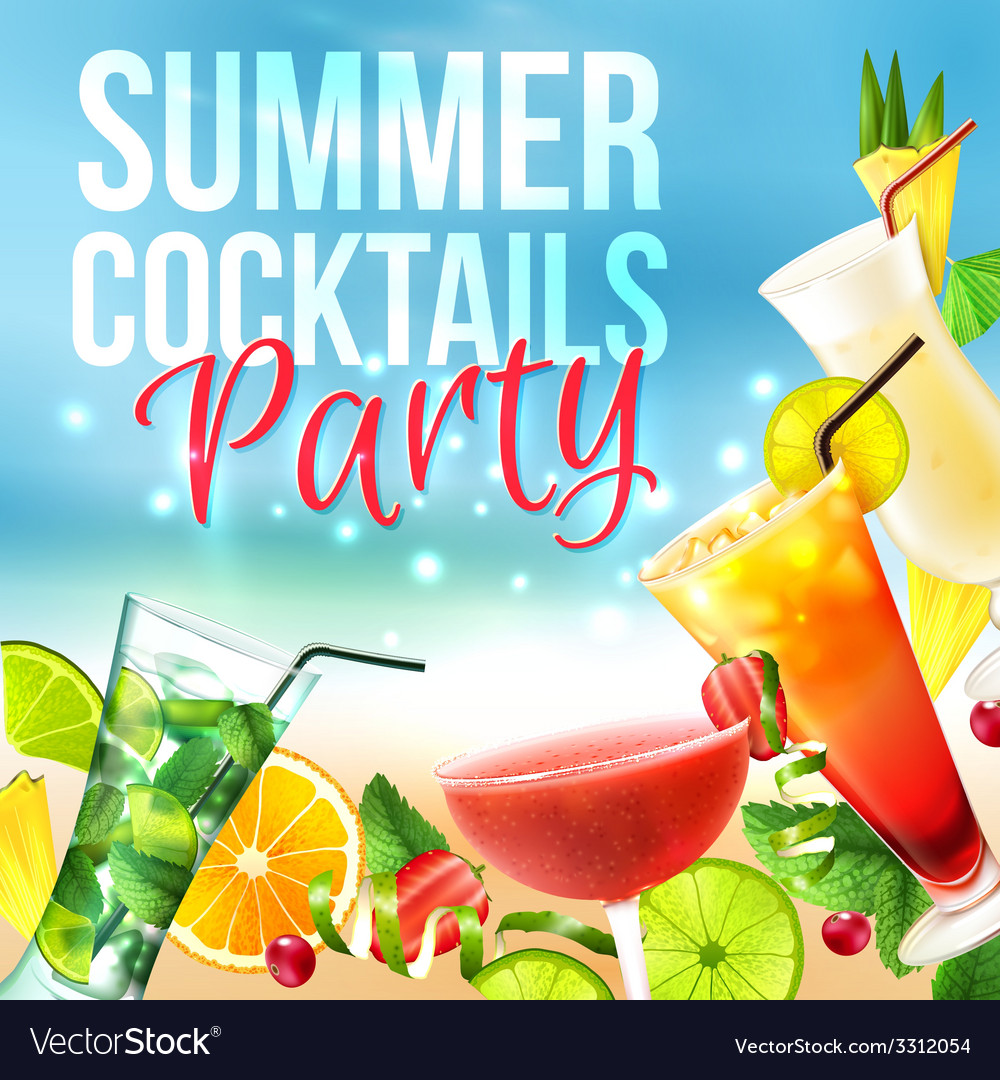 Cocktail party poster vector | Price: 3 Credit (USD $3)