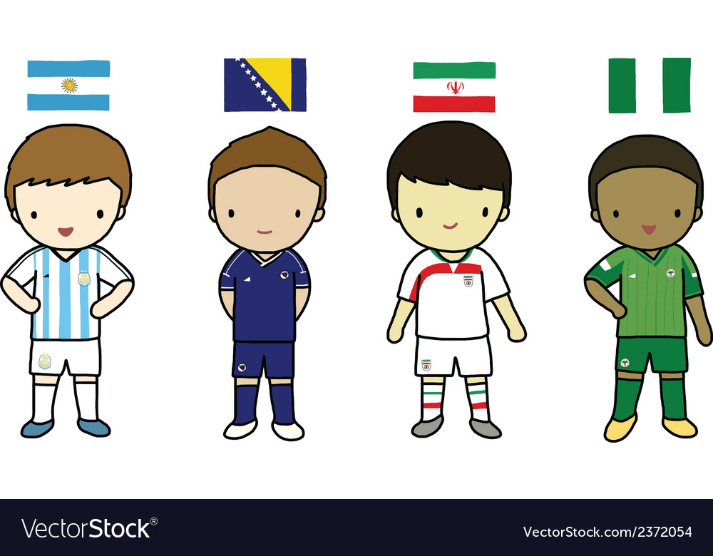 Fifa 2014 football players group f vector | Price: 1 Credit (USD $1)
