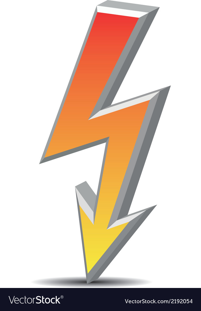 Flash danger symbol vector | Price: 1 Credit (USD $1)