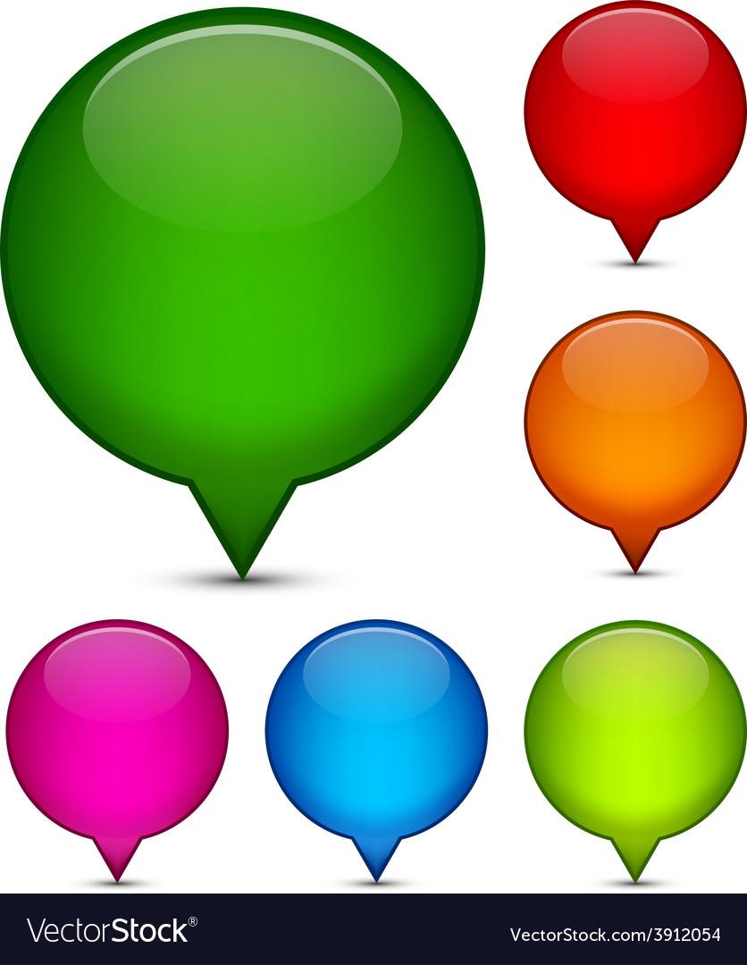 Glossy speech bubbles vector   Price: 1 Credit (USD $1)