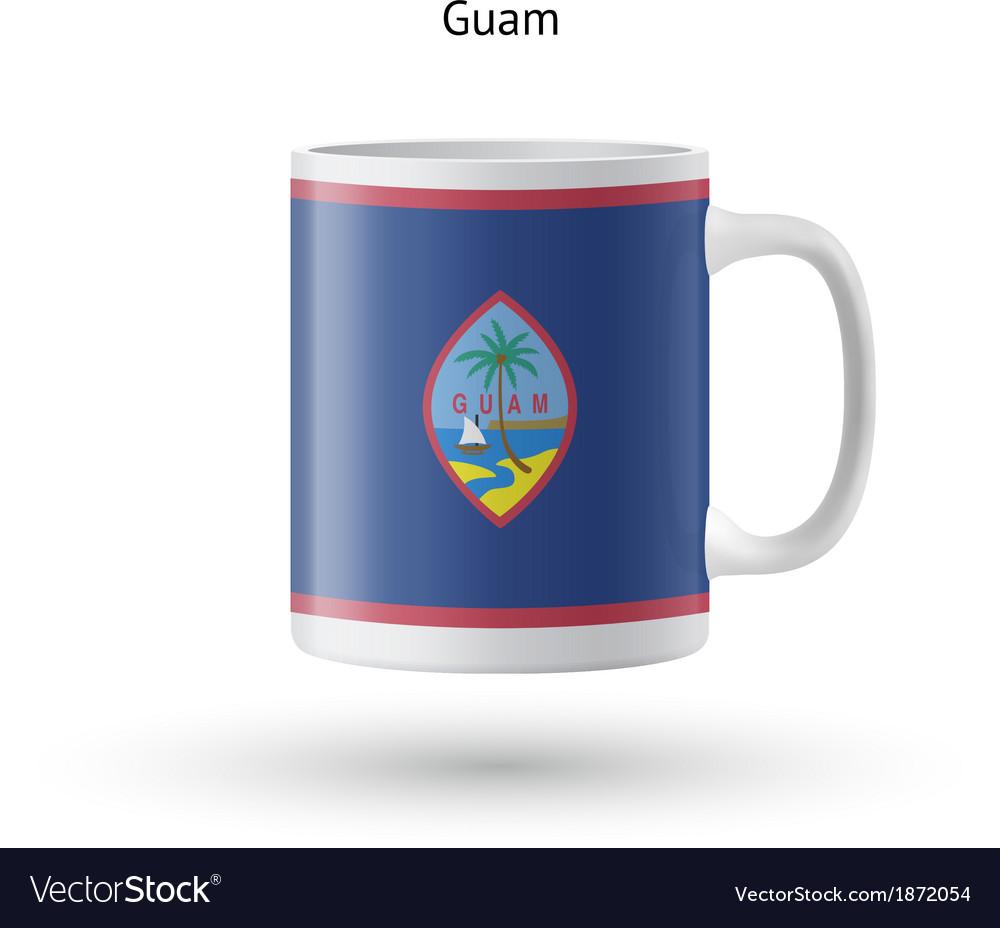 Guam flag souvenir mug on white background vector | Price: 1 Credit (USD $1)