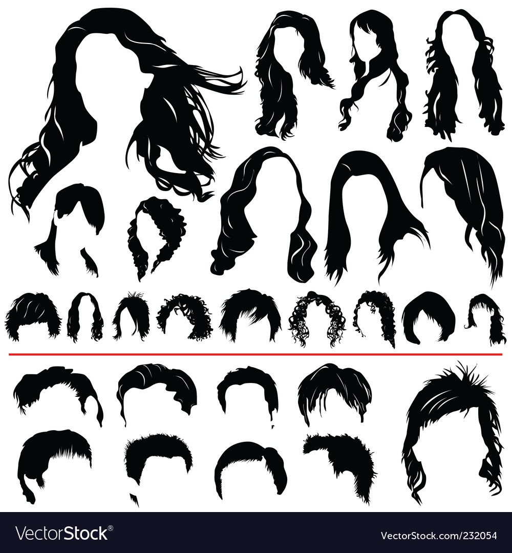 Hair set vector | Price: 1 Credit (USD $1)