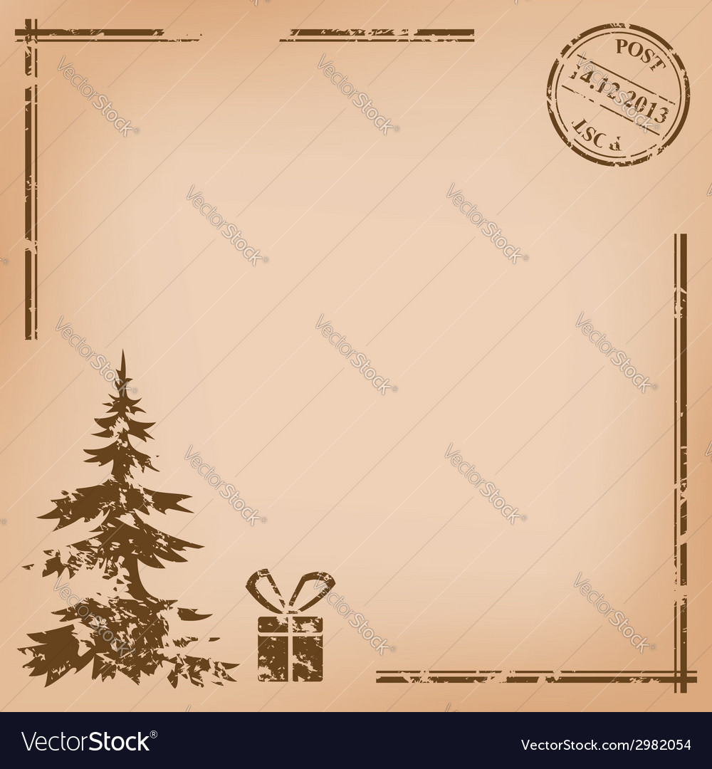 Old vintage postcard - for christmas vector | Price: 1 Credit (USD $1)