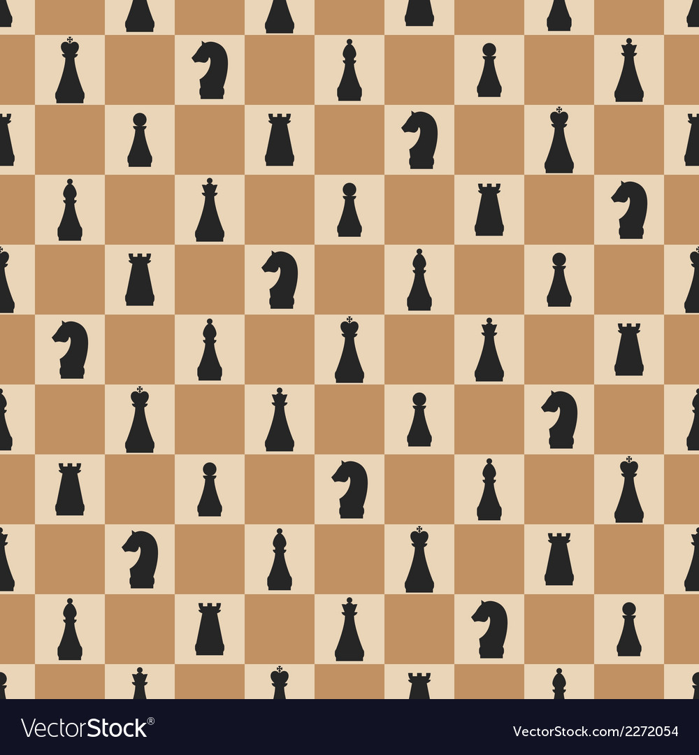 Seamless pattern of chess on chessboard vector | Price: 1 Credit (USD $1)