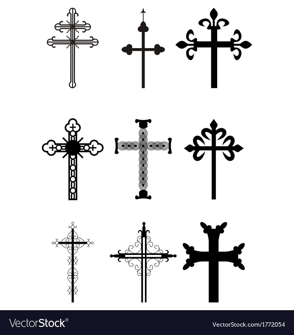 Set of crosses vector | Price: 1 Credit (USD $1)