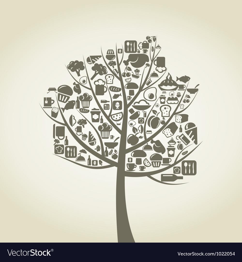 Tree food vector | Price: 1 Credit (USD $1)