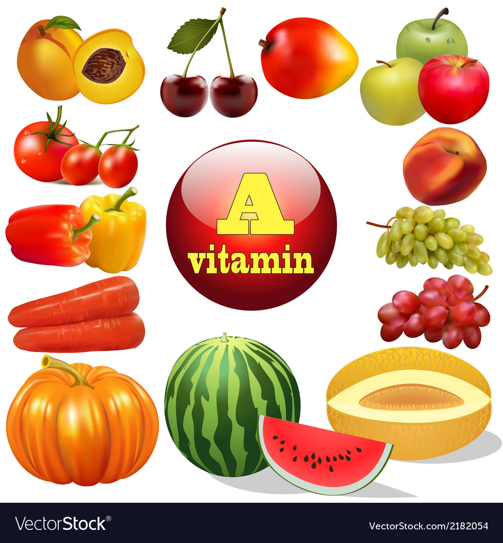 Vitamin a herbal products vector | Price: 1 Credit (USD $1)