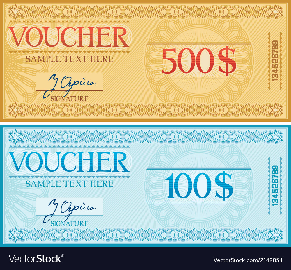 Voucher design vector | Price: 1 Credit (USD $1)