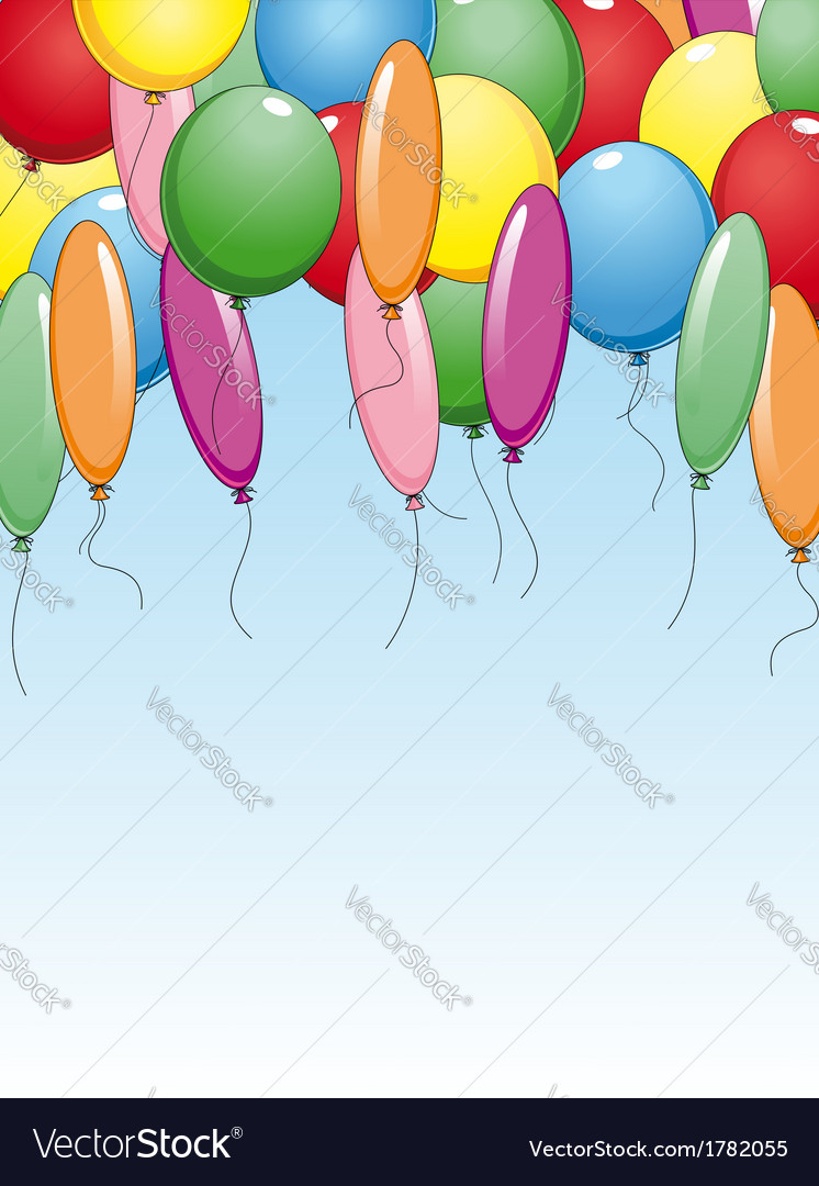 Colourful background with holiday balloons vector | Price: 1 Credit (USD $1)
