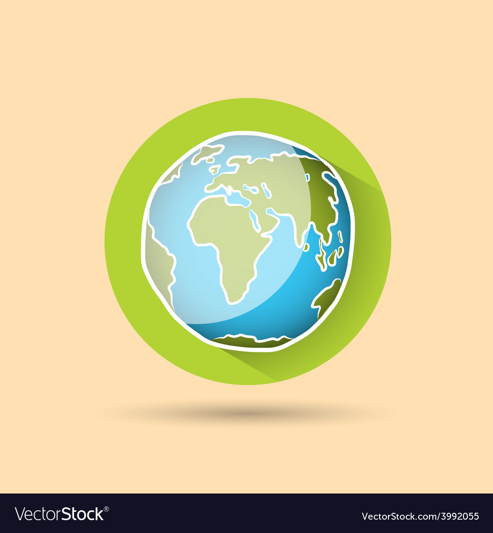Doodle globe icon vector | Price: 1 Credit (USD $1)