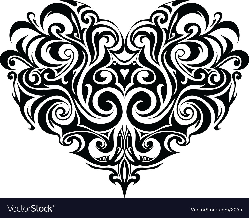 Heart-shape vector | Price: 1 Credit (USD $1)