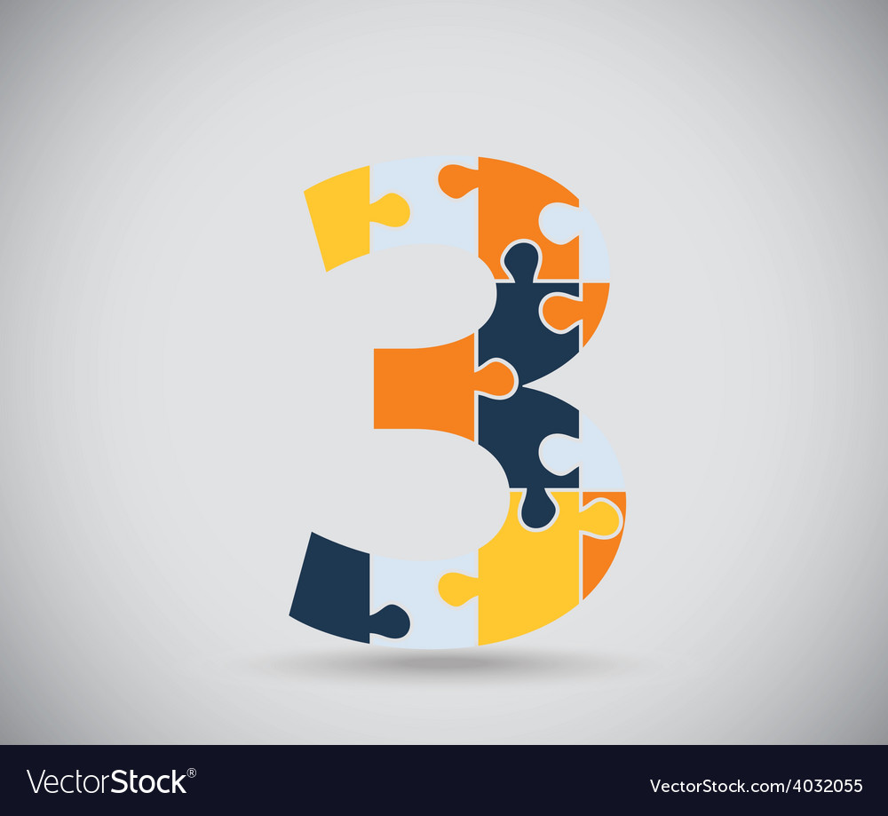 Number three vector | Price: 1 Credit (USD $1)