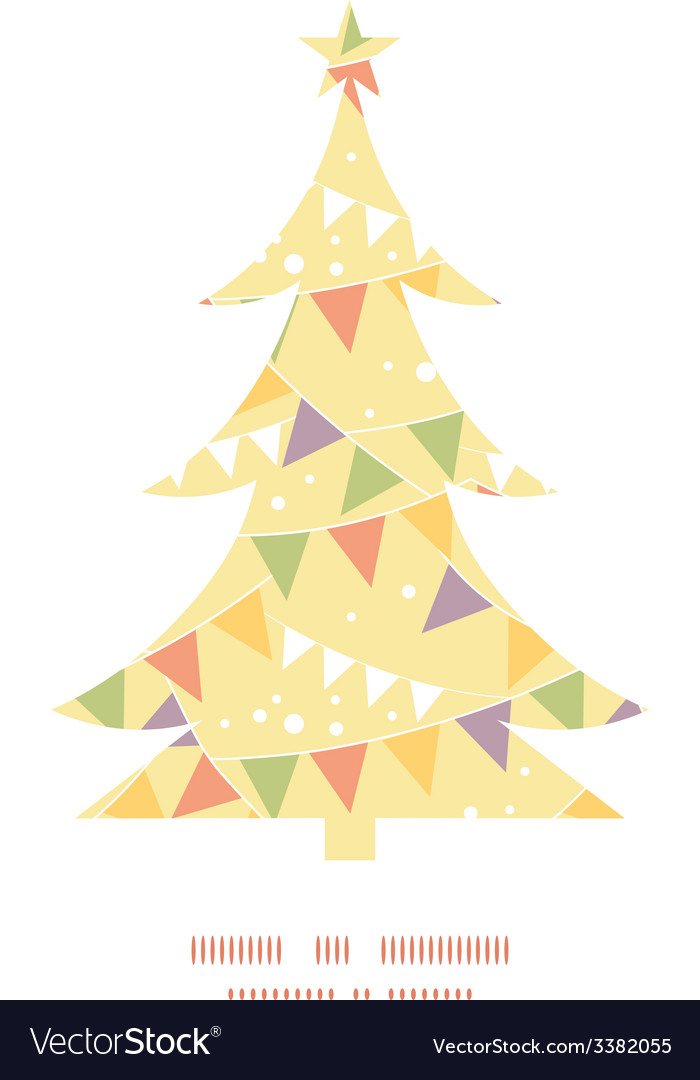 Party decorations bunting christmas tree vector | Price: 1 Credit (USD $1)