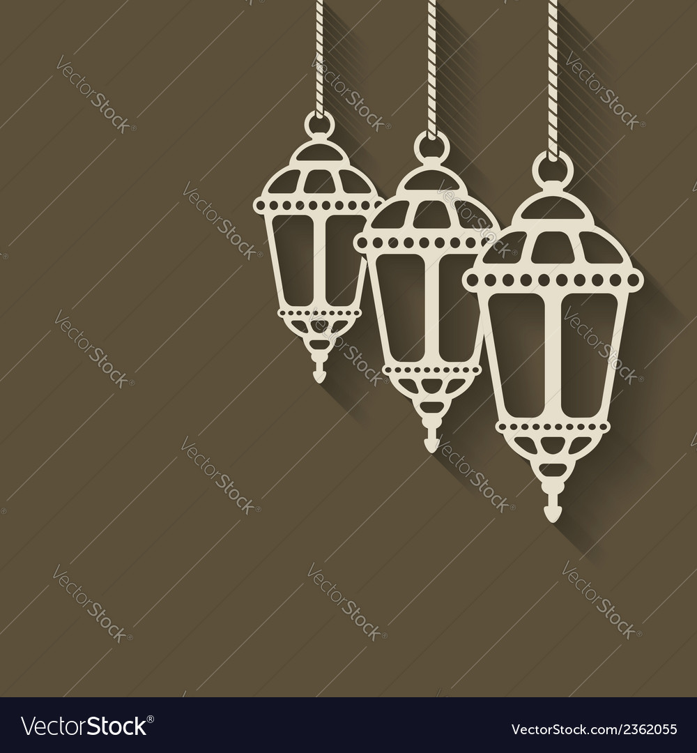 Ramadan lantern background vector | Price: 1 Credit (USD $1)