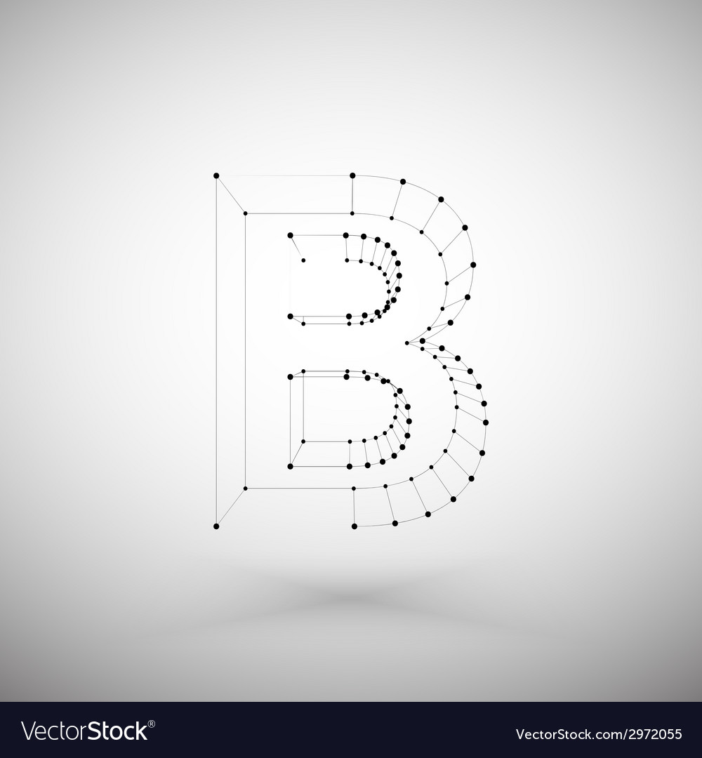 Three dimensional mesh stylish alphabet letter vector | Price: 1 Credit (USD $1)