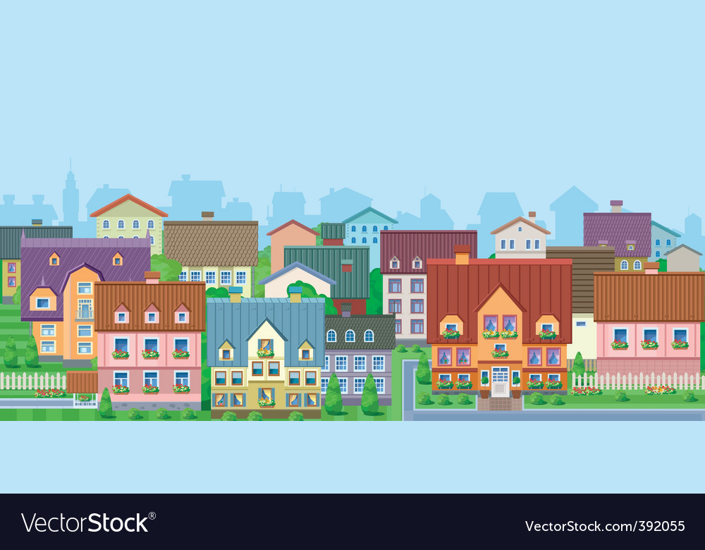 Townhouses vector   Price: 1 Credit (USD $1)