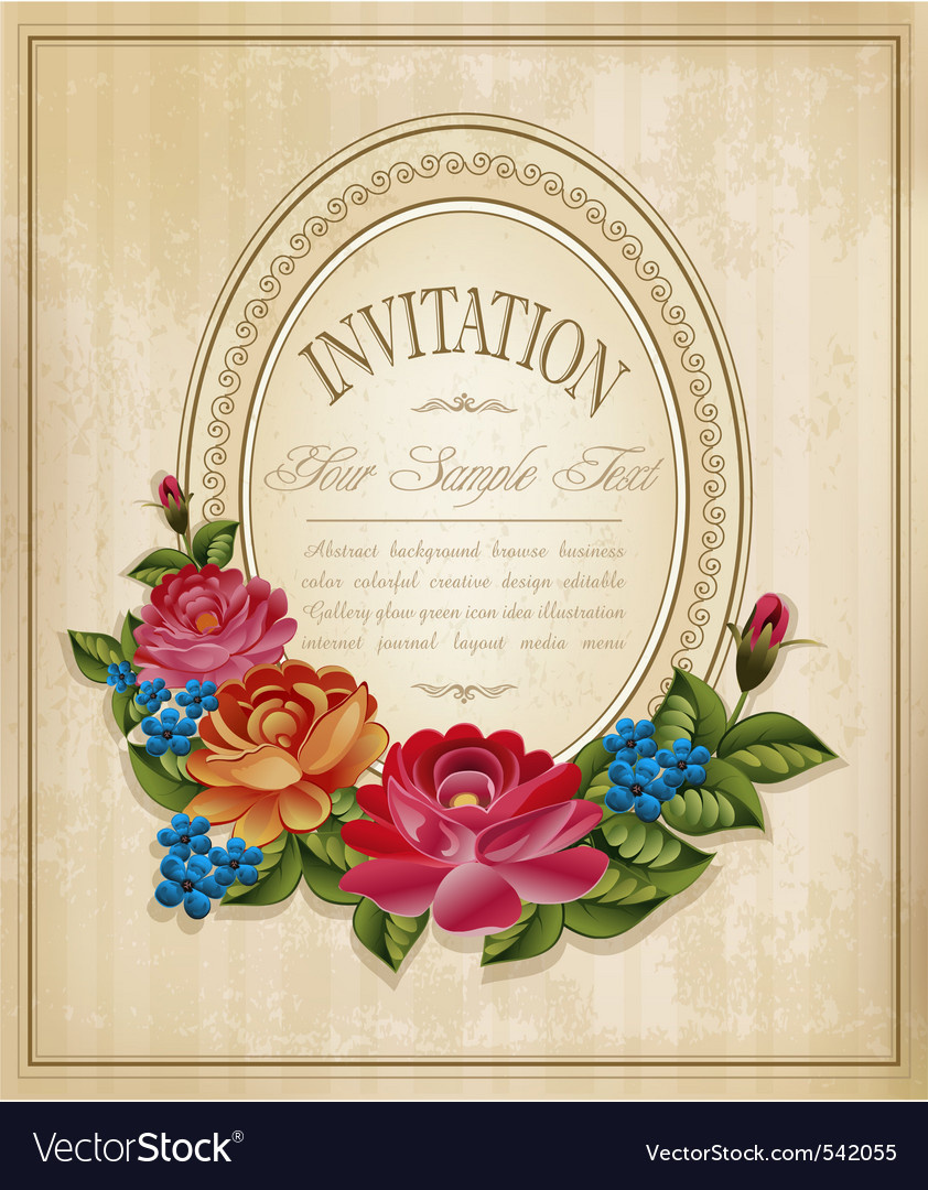 Vintage frame and faded paper vector | Price: 1 Credit (USD $1)
