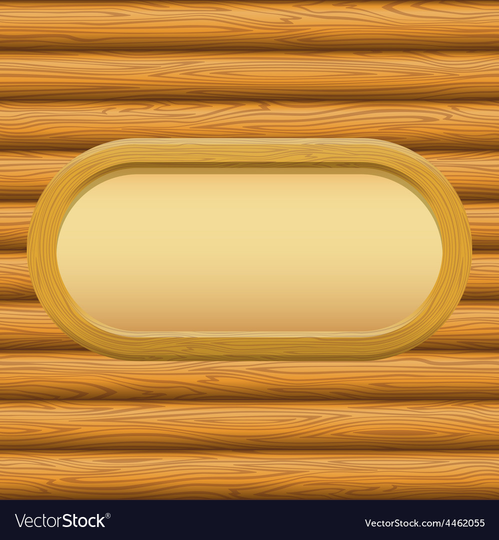 Wooden framework with paper on a wall vector | Price: 1 Credit (USD $1)