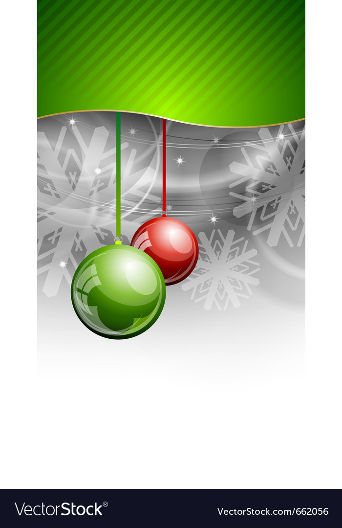 Christmas background with two balls vector | Price: 1 Credit (USD $1)