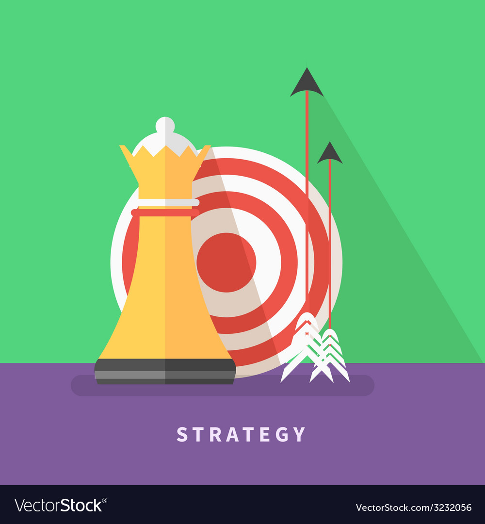 Concept for business strategy and mission vector | Price: 1 Credit (USD $1)