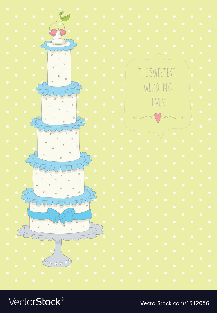 Cute wedding invitation card with a dots backgroun vector | Price: 1 Credit (USD $1)