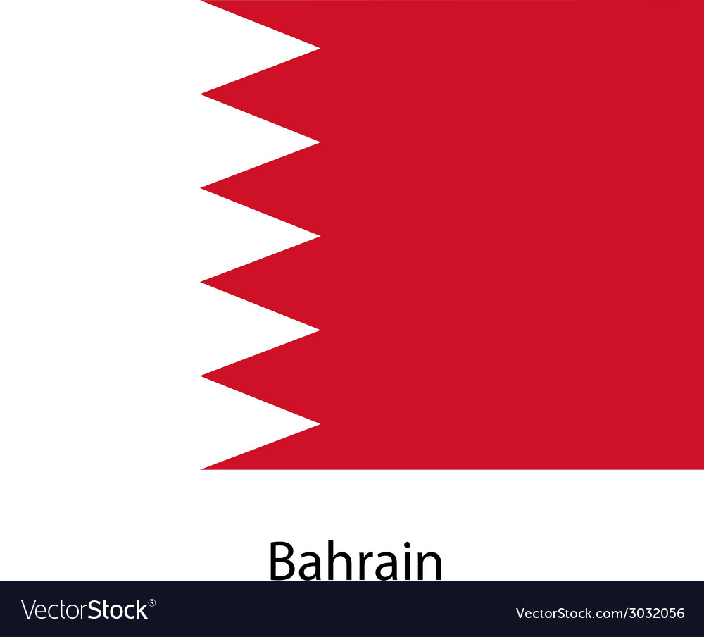 Flag of the country bahrain vector | Price: 1 Credit (USD $1)