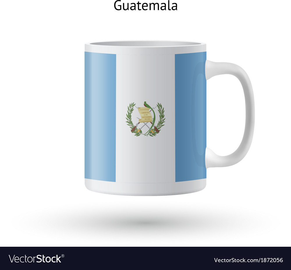 Guatemala flag souvenir mug on white background vector | Price: 1 Credit (USD $1)