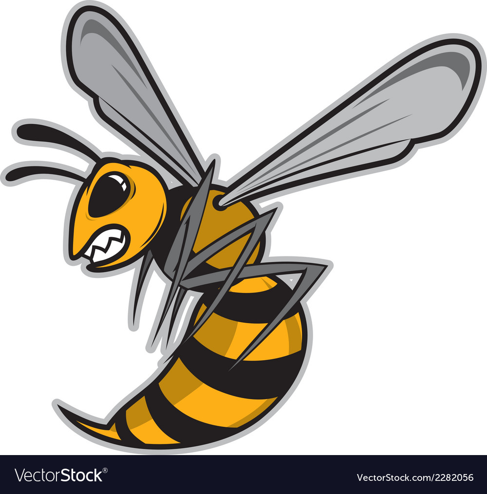 Hornet mascot vector | Price: 1 Credit (USD $1)