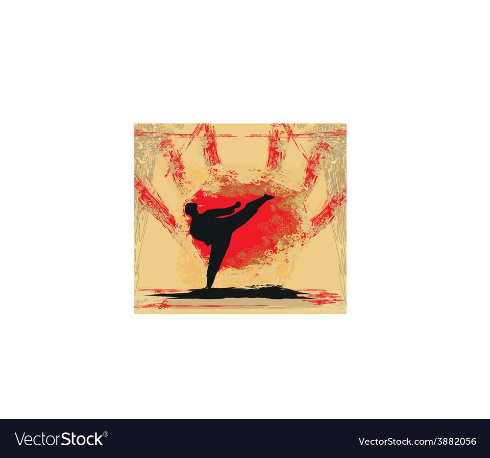 Karate grunge poster vector | Price: 1 Credit (USD $1)