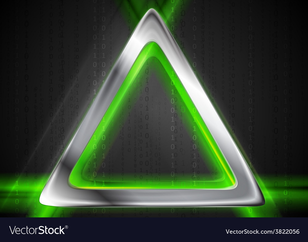 Metal background and green glowing light vector | Price: 1 Credit (USD $1)
