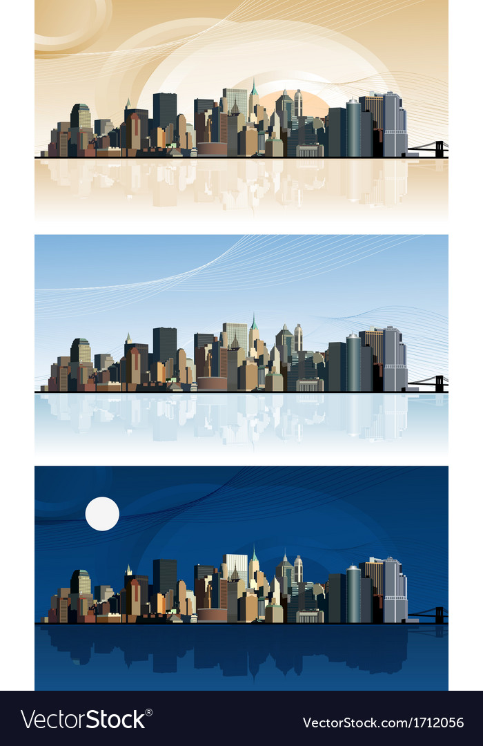 Panorama of the big city vector | Price: 1 Credit (USD $1)