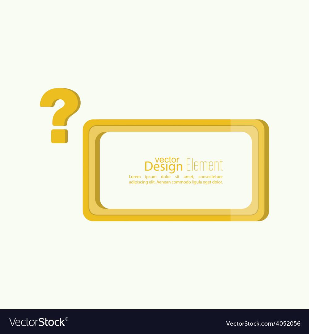 Question mark icon vector | Price: 1 Credit (USD $1)