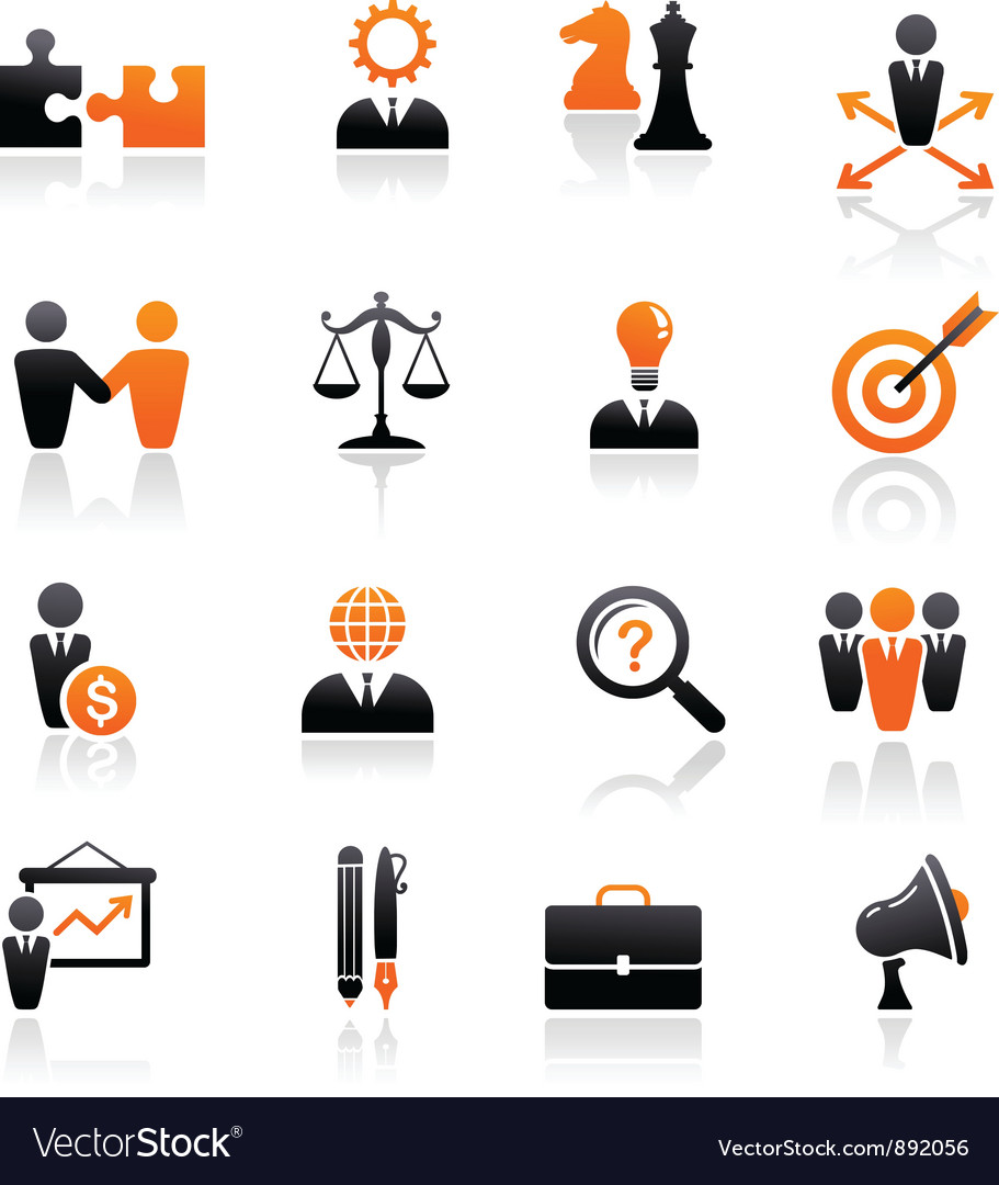 Set of business and strategy icons vector | Price: 1 Credit (USD $1)