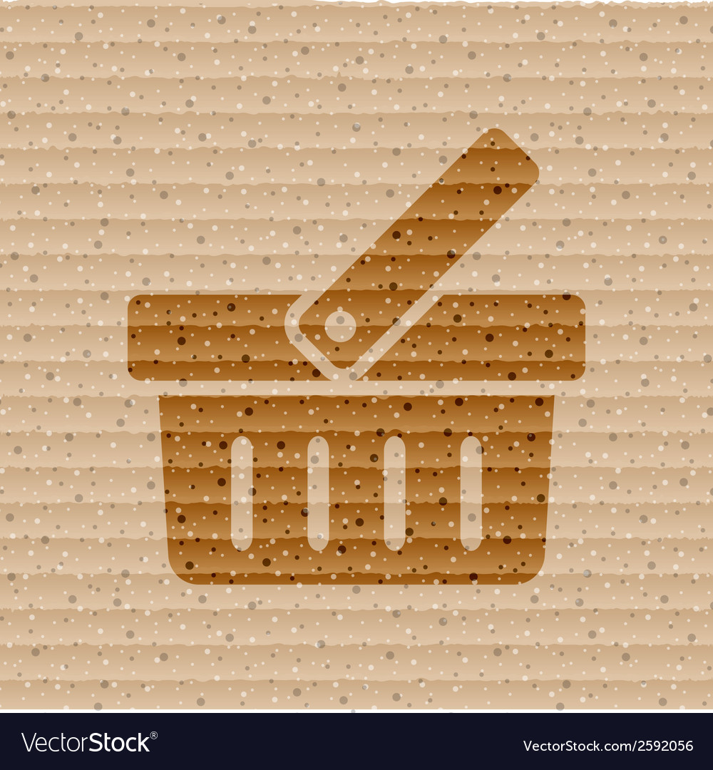 Shopping basket flat modern web button and space vector | Price: 1 Credit (USD $1)